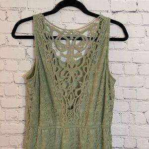 Wallflower | Sage Dress w/back Detail Size L